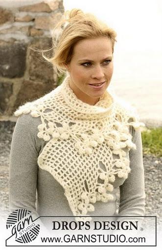 Вязание крючком шарфов - схема