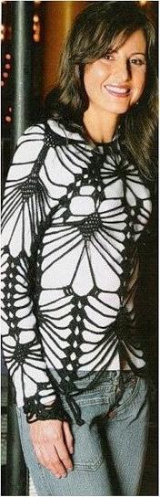 Вязание ажурных кофточек спичами для девочек