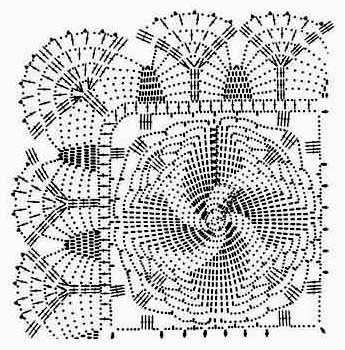 ажурное вязание крючком схемы и описание