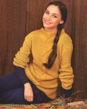 Вязаный свитер крючком, цена - 1 000 грн
